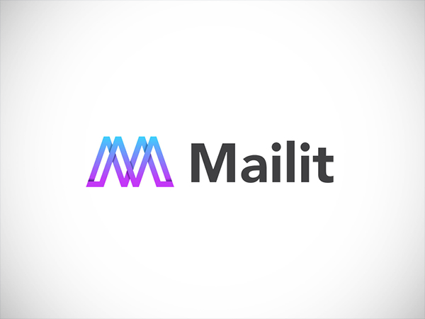 M letter abstract logo design by Md Motaleb