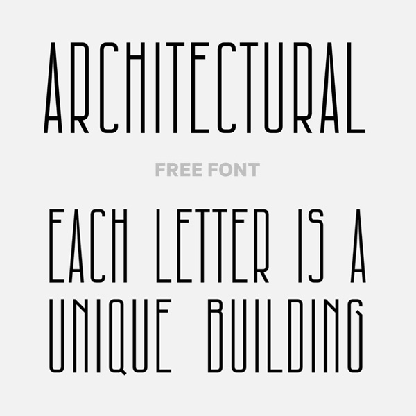 Architectural Condensed Free Font