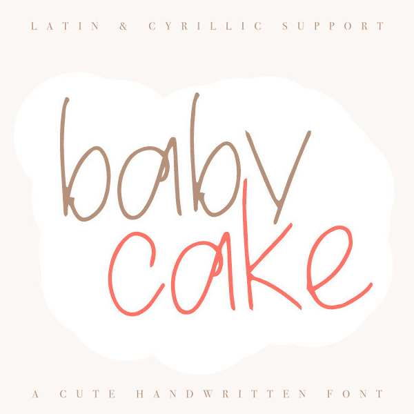 Baby Cake Handwritten Free Font