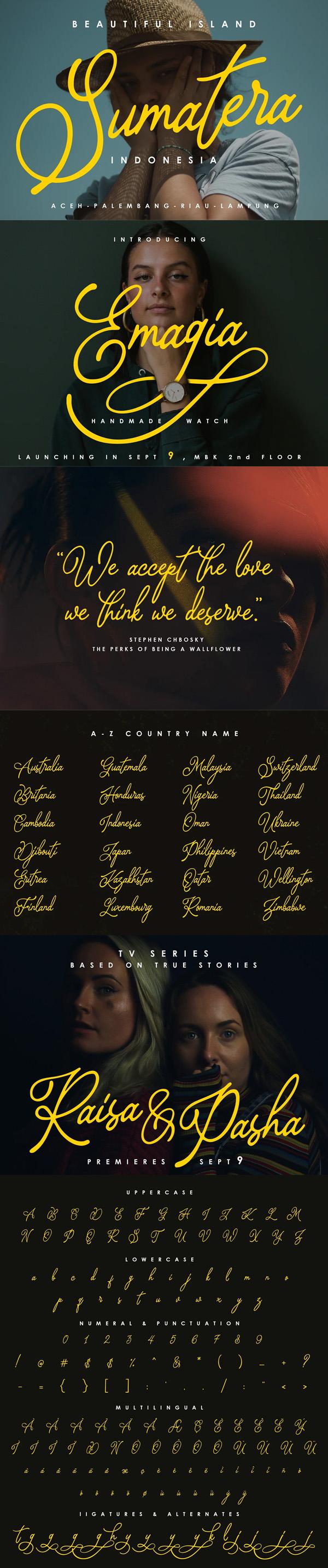 Bragitha Handwritten Free Font