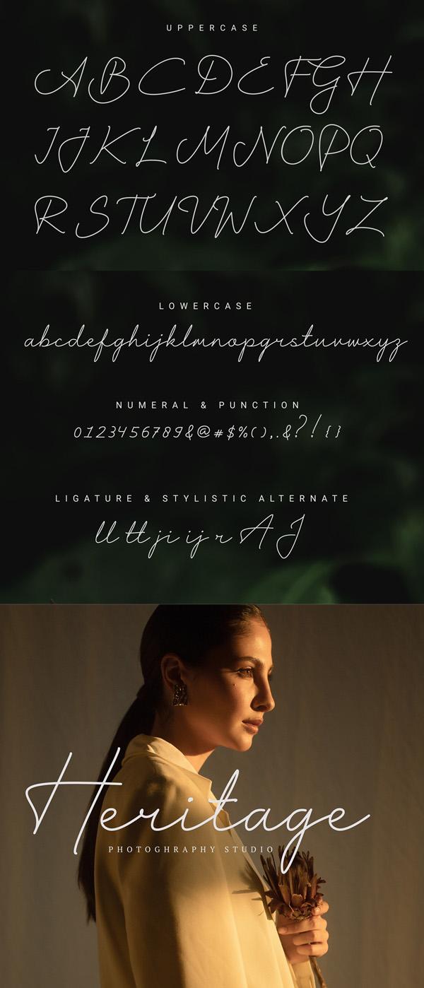 Harshita Signature Free Font