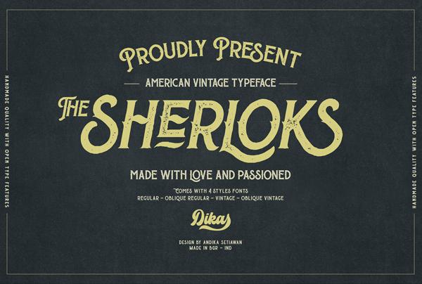 The Sherloks Free Hipster Font
