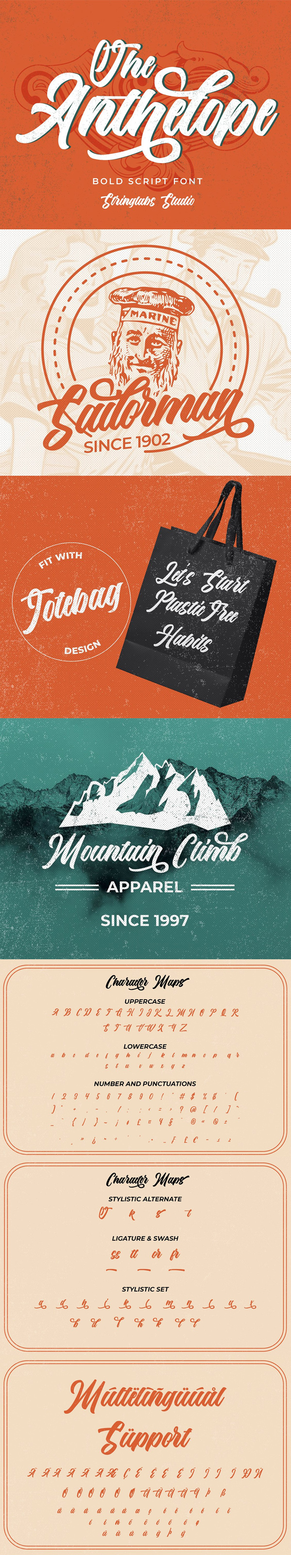 The Anthelope – Retro Script Free Hipster Font