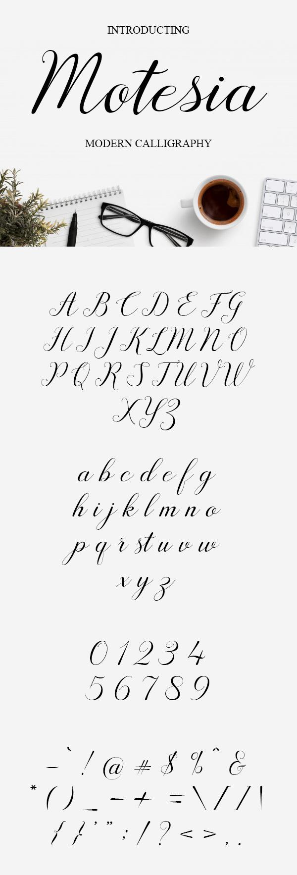 Motesia Script Free Hipster Font