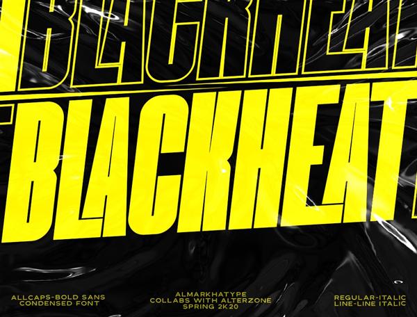 Blackheat Condensed Free Hipster Font