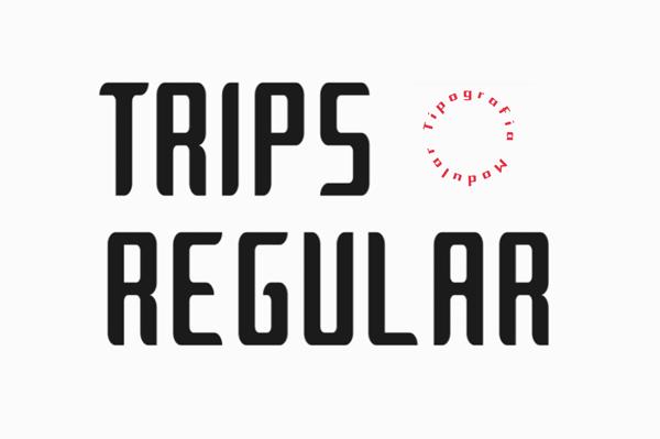 Trips Modular Free Hipster Font