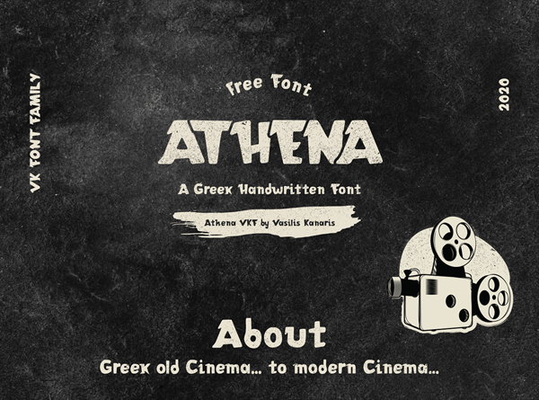 ATHENA VKF Free Hipster Font