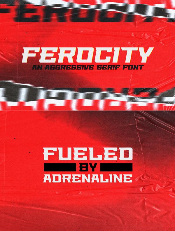 Ferocity Serif Free Hipster Font