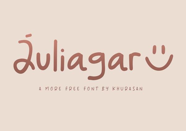 Juliagar Handwritten Free Font
