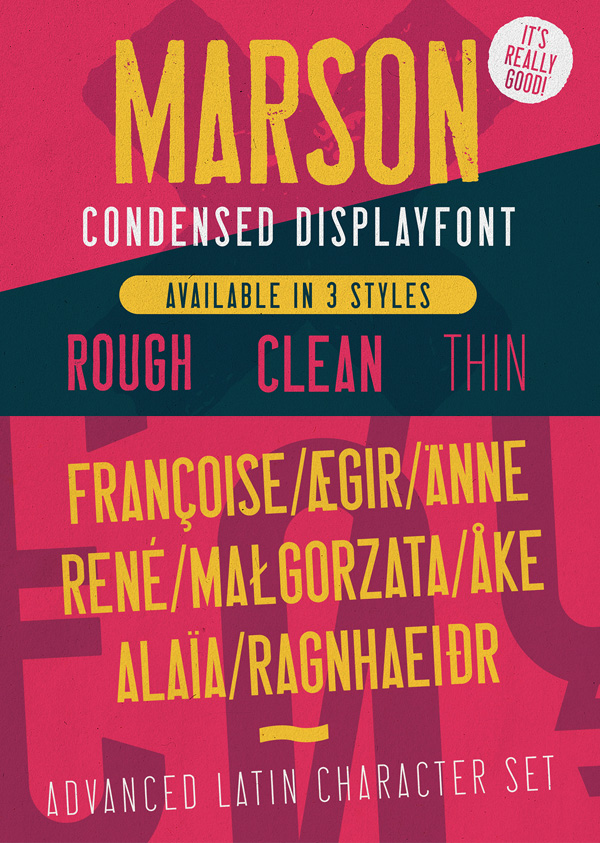 Marson Condensed Free Font