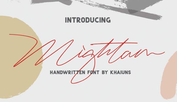 Mightam Signature Free Font