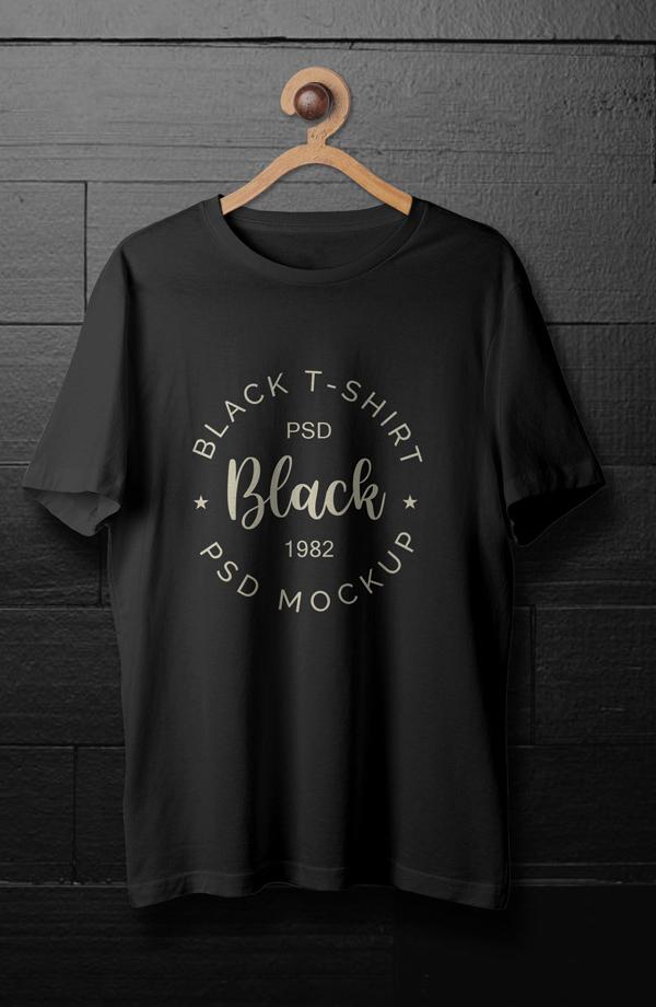 Black Free T-shirt Mockup Template