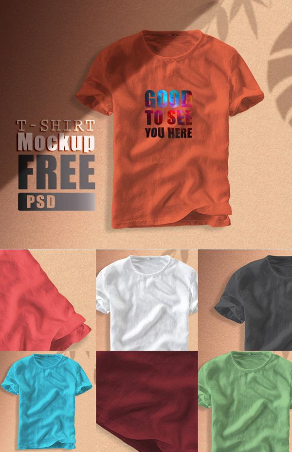 Free T-shirt Mockups Templates