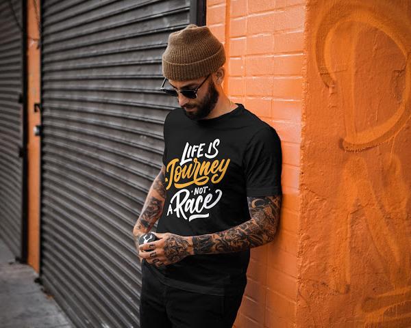 Free Cool Guy T-Shirt MockUp PSD