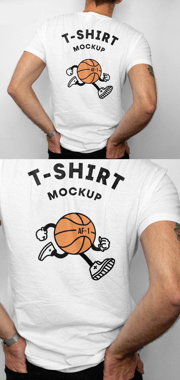 Free T Shirt Back Mockup