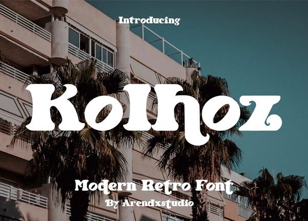 Kolhoz - Modern Retro Font