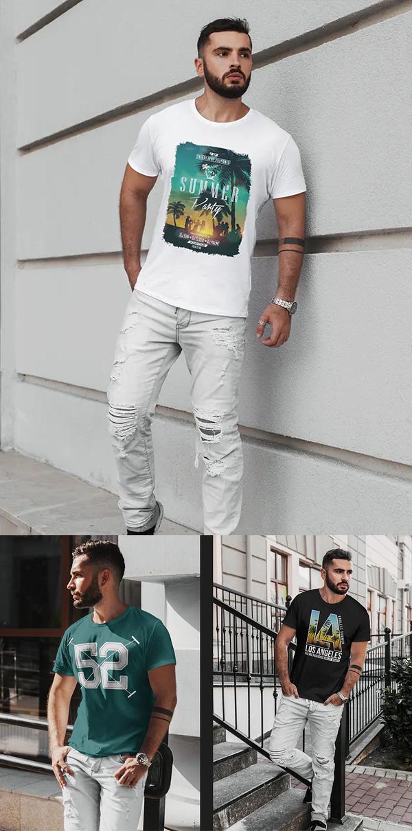 Stylish Man T-Shirt Mockup
