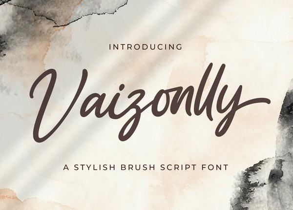 Vaizonlly - Bold Script Font